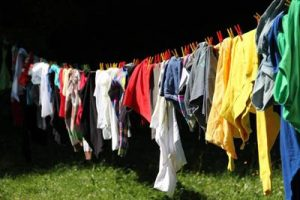 clothing drying on line