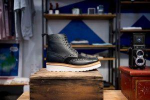 boot in closet