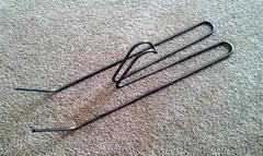 boot hanger prototype made of steel wire