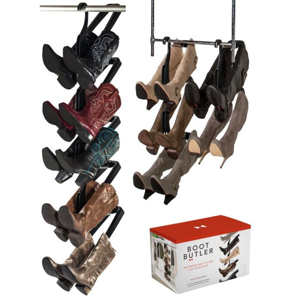 Boot Butler Boot Rack 5 Pair Hanging Organizer & Shaper